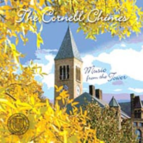 Music from the Tower CD cover. Image of McGraw Tower in fall.